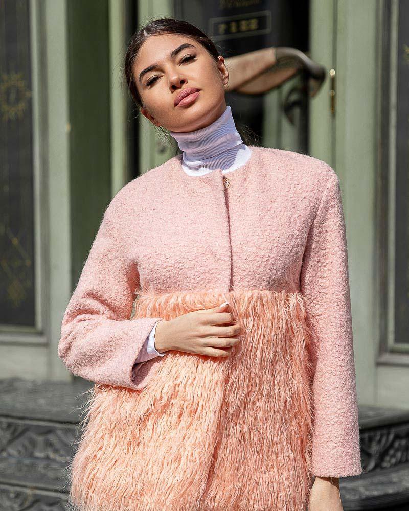 Комбинированное пальто Gepur