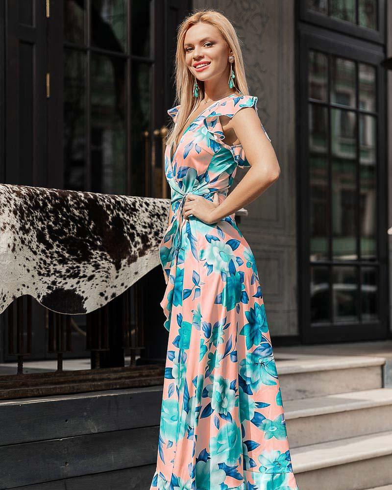Легкое платье на запа́х
