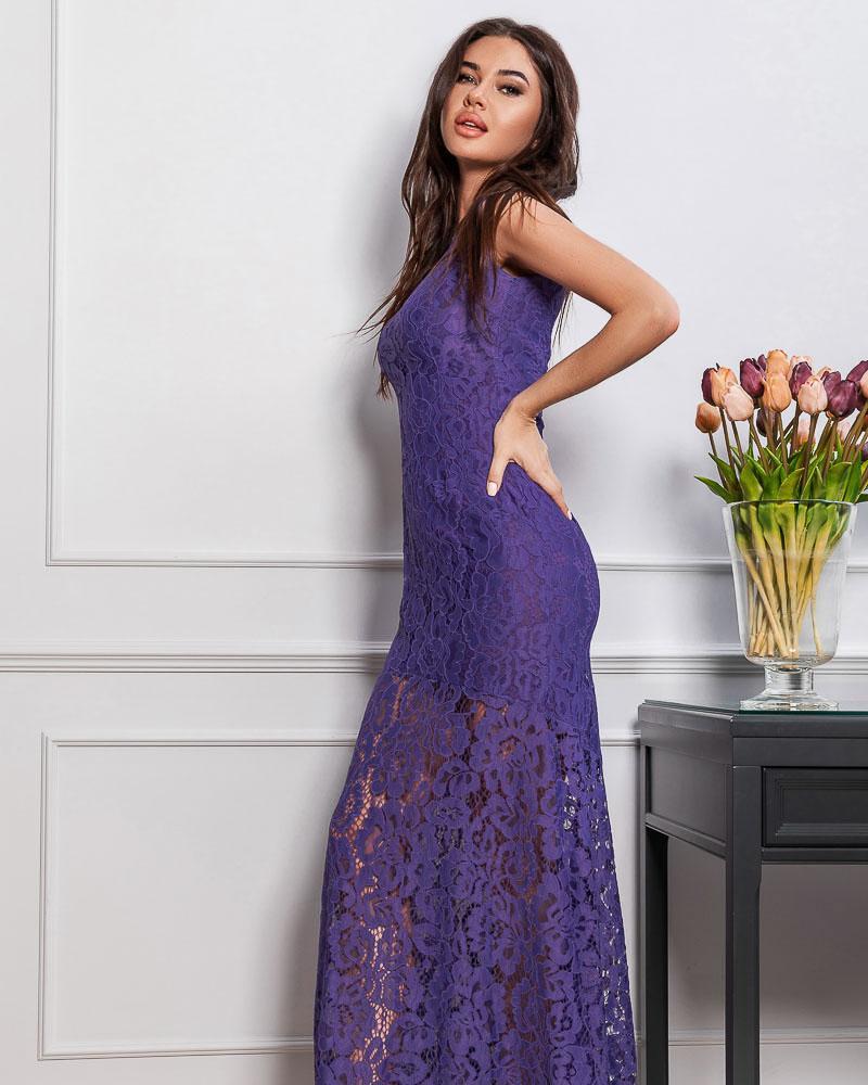 Длинное платье из гипюра фото