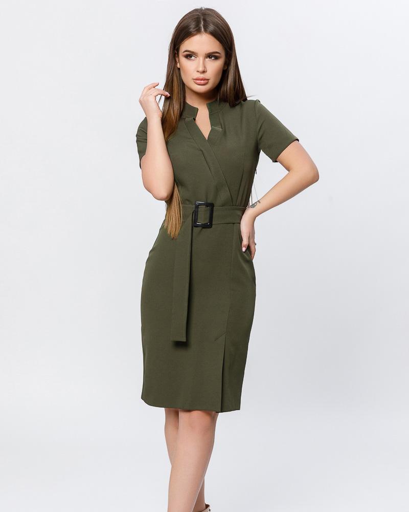 Облегающее платье-миди фото