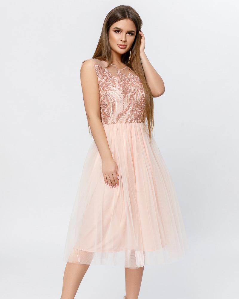 Трендова сукня з паєтками от Gepur