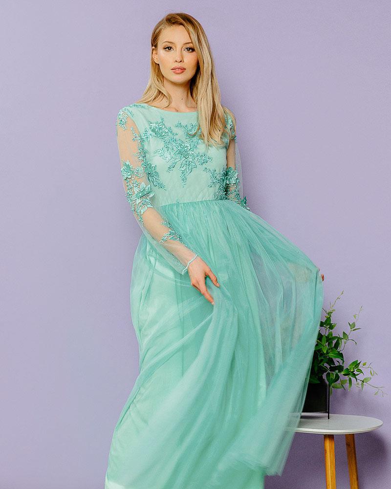 Плаття-максі з вишивкою от Gepur
