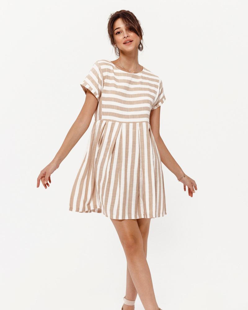 Свободное короткое платье