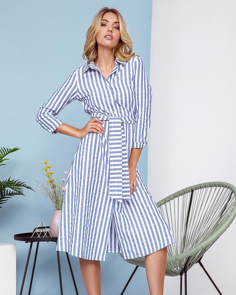 Платье-рубашка с поясом фото
