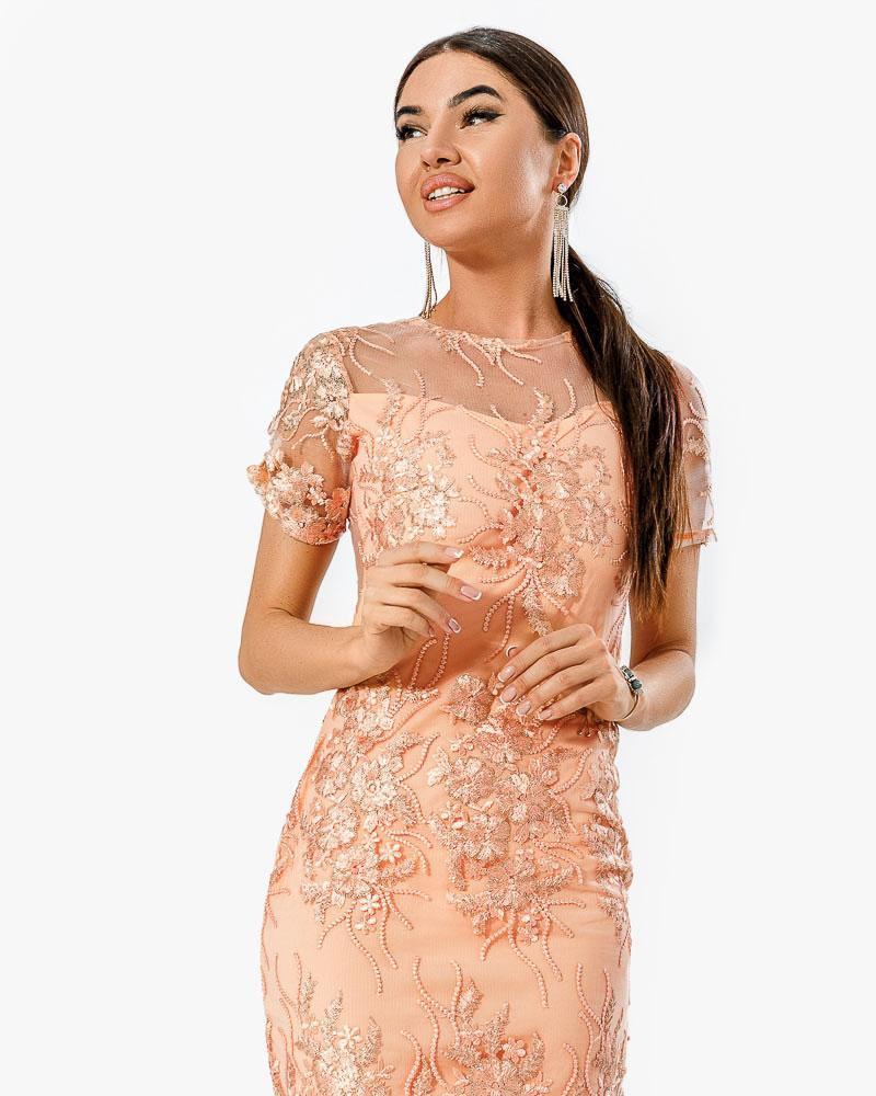Коктейльное платье-сетка фото