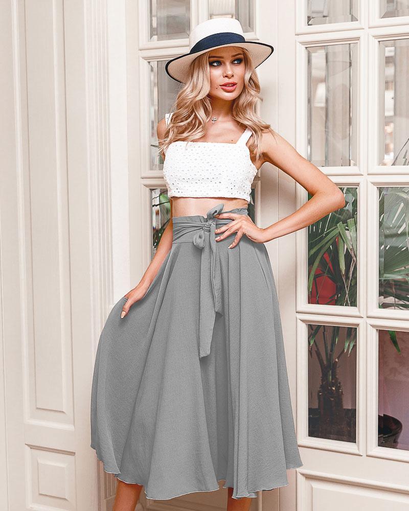 Расклешенная юбка-миди фото