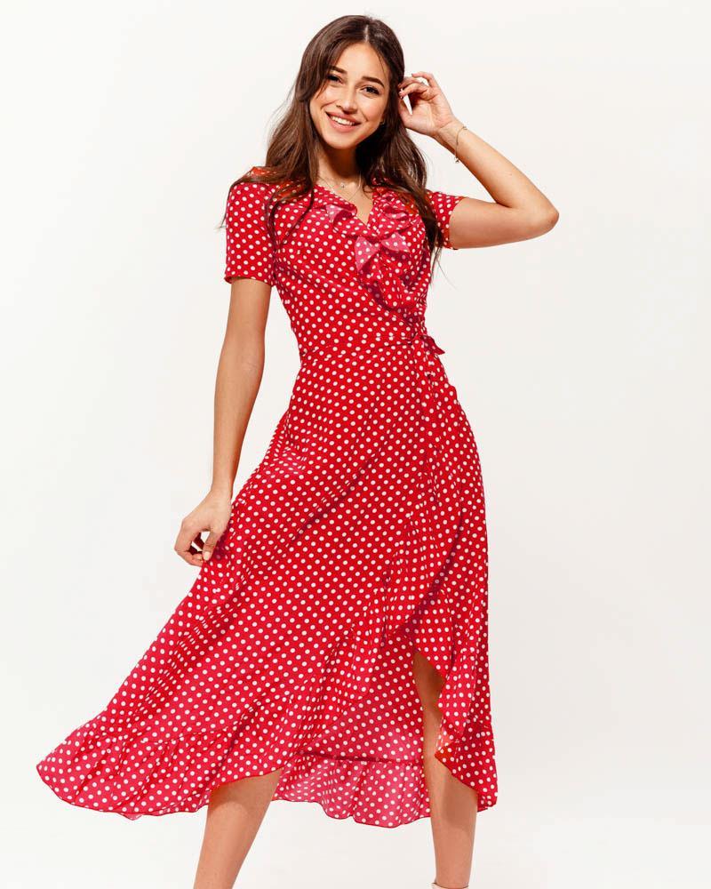 Длинное платье на запа́х фото