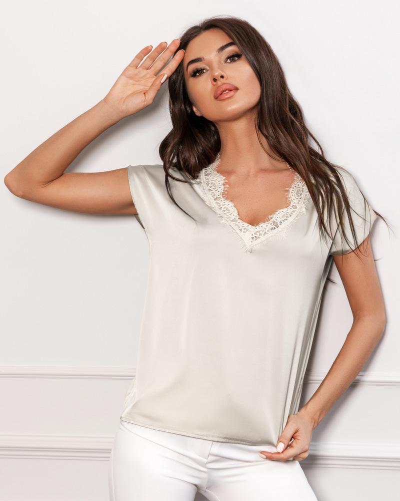 Жіноча шовкова блуза от Gepur