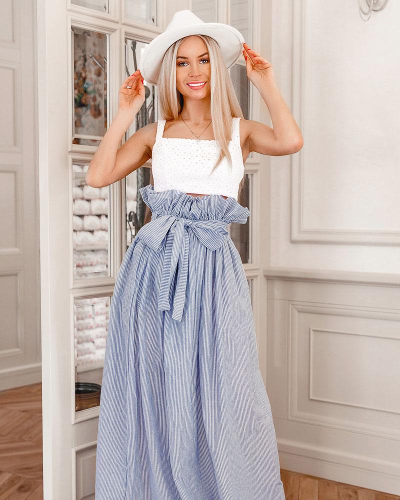 Длинная юбка в полоску фото