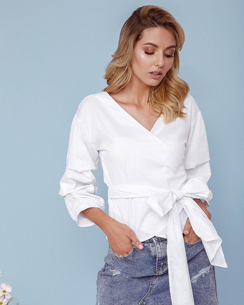 Блуза з об'ємними рукавами от Gepur