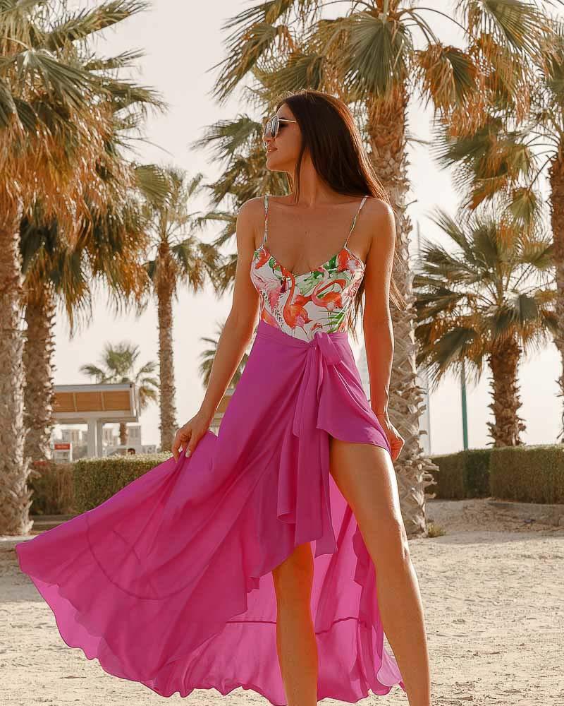 Стильная пляжная юбка