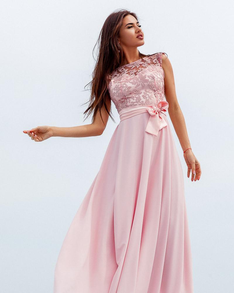 Длинное платье с декором фото