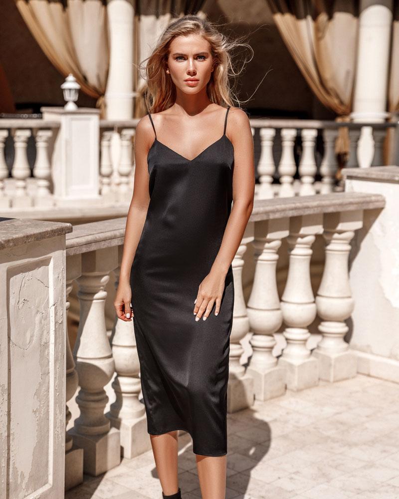 Легкое шелковое платье фото