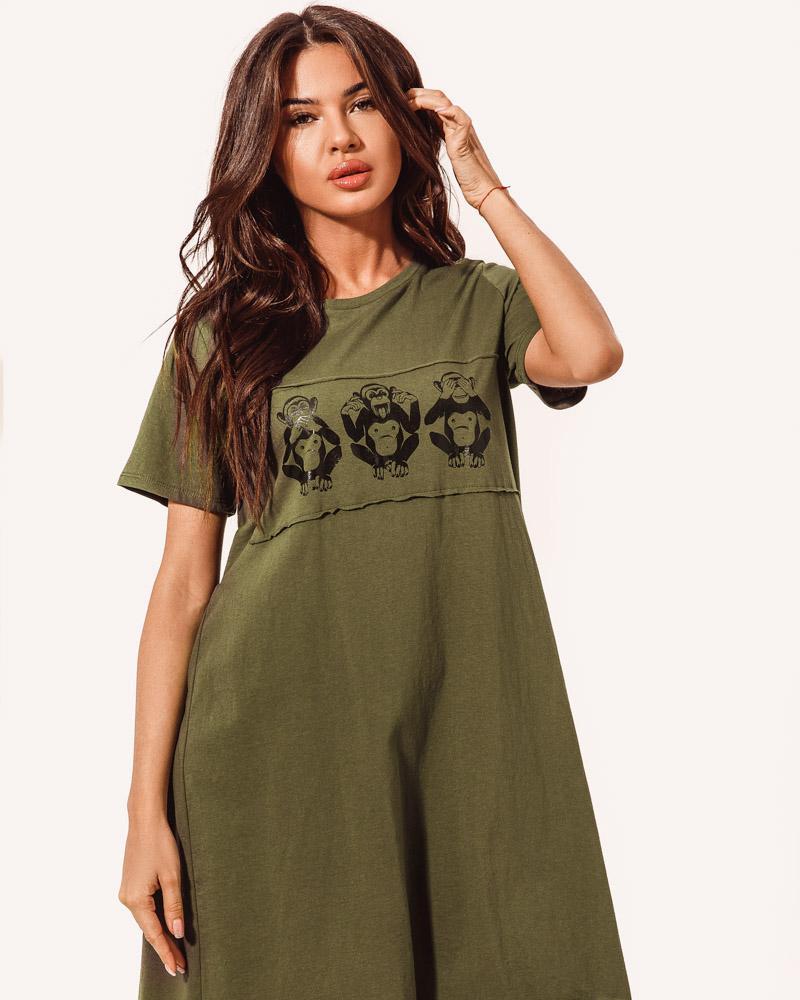 Просторное платье-туника