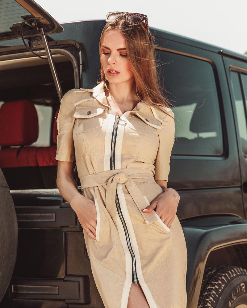 Платье с коротким рукавом фото