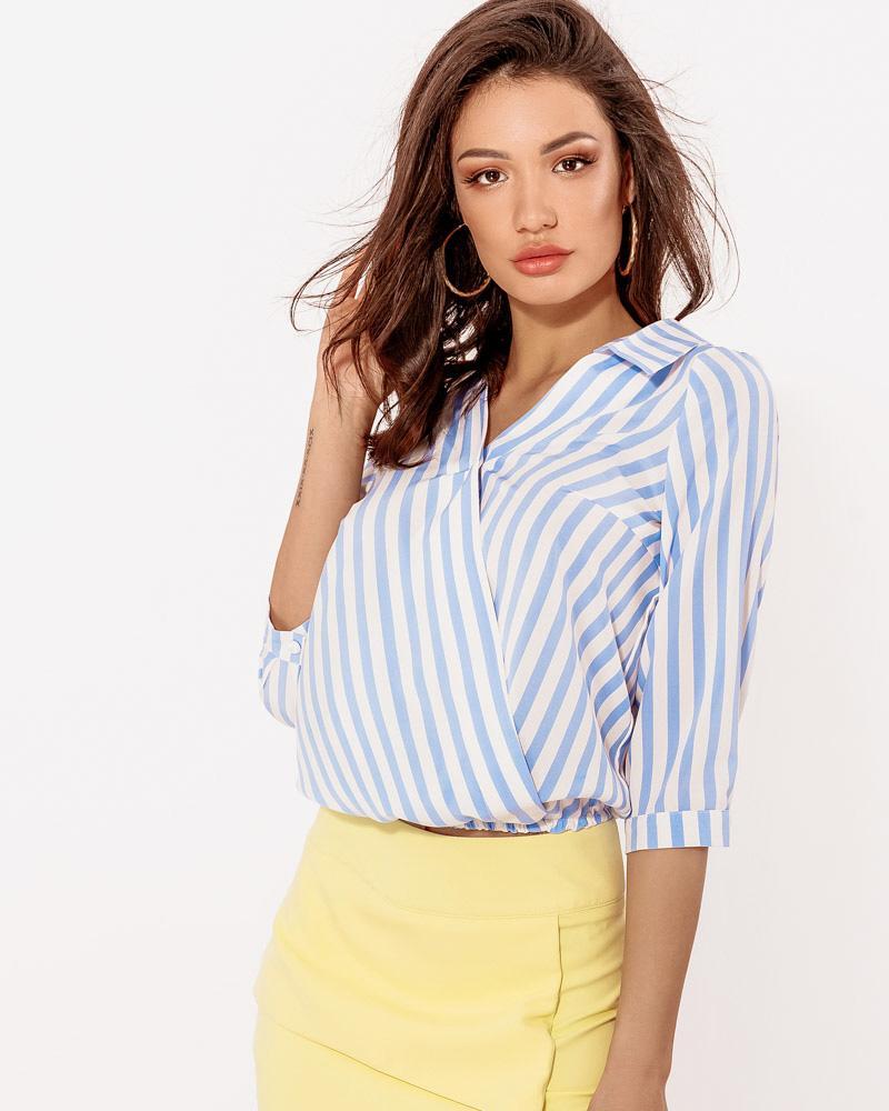 Блуза в смугастий принт от Gepur