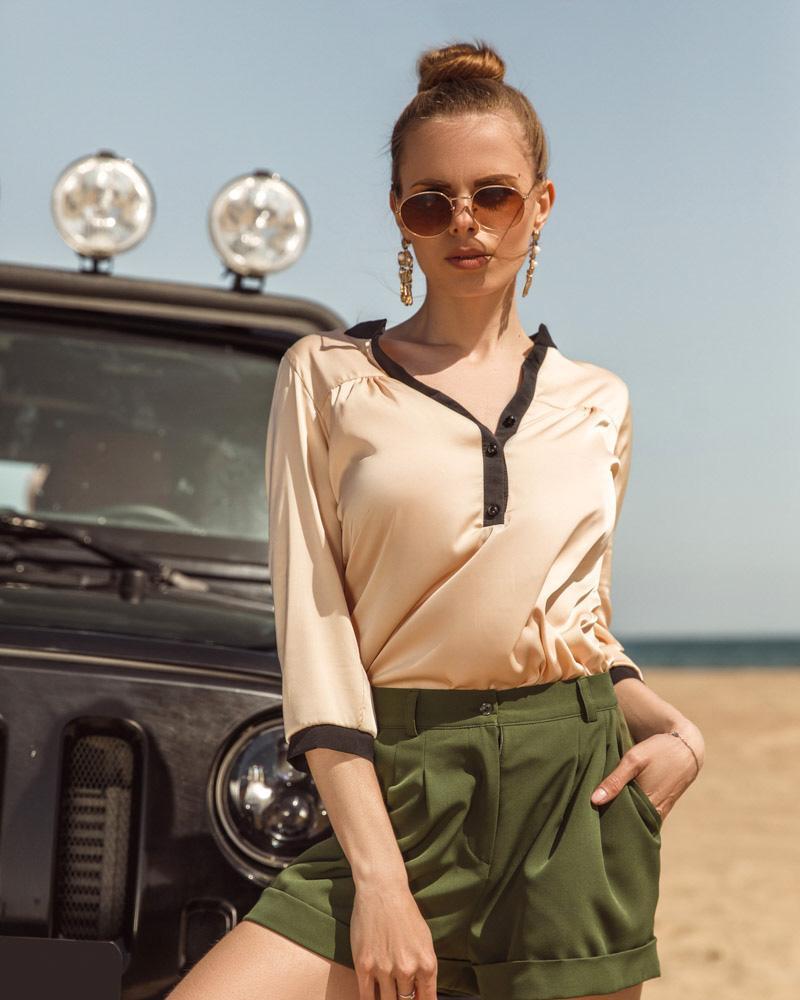 Повседневная женская блуза фото