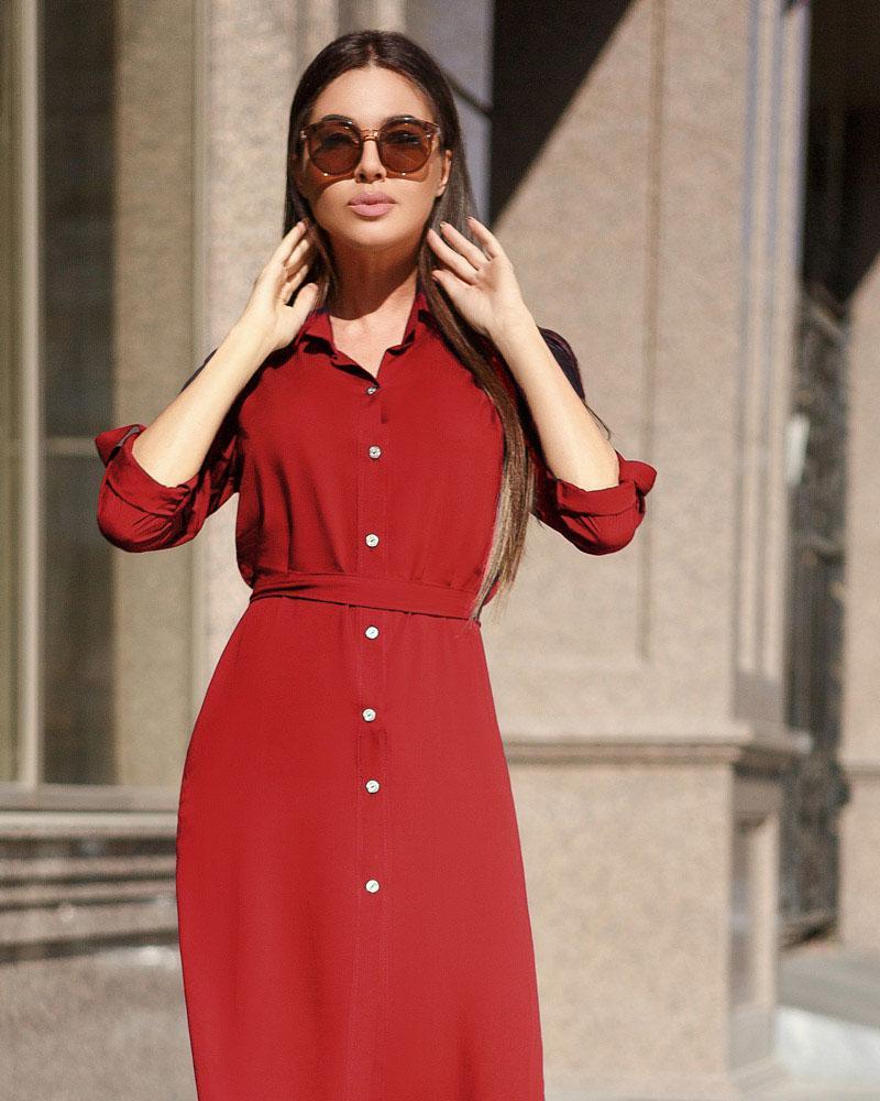 Легкое платье-рубашка фото