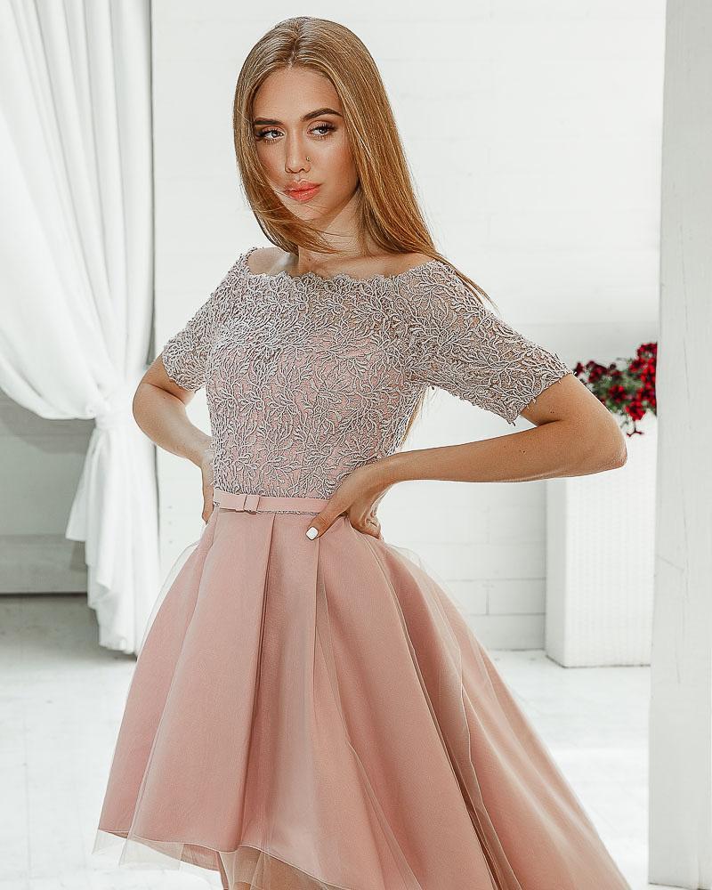 Асимметричное вечернее платье фото