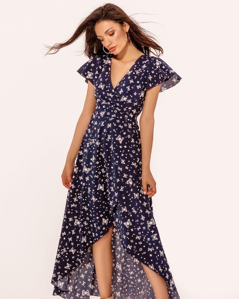 Невесомое цветочное платье фото