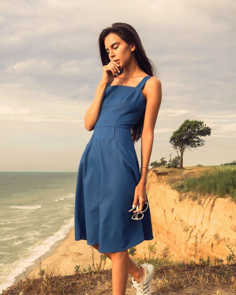 Летнее джинсовое платье фото