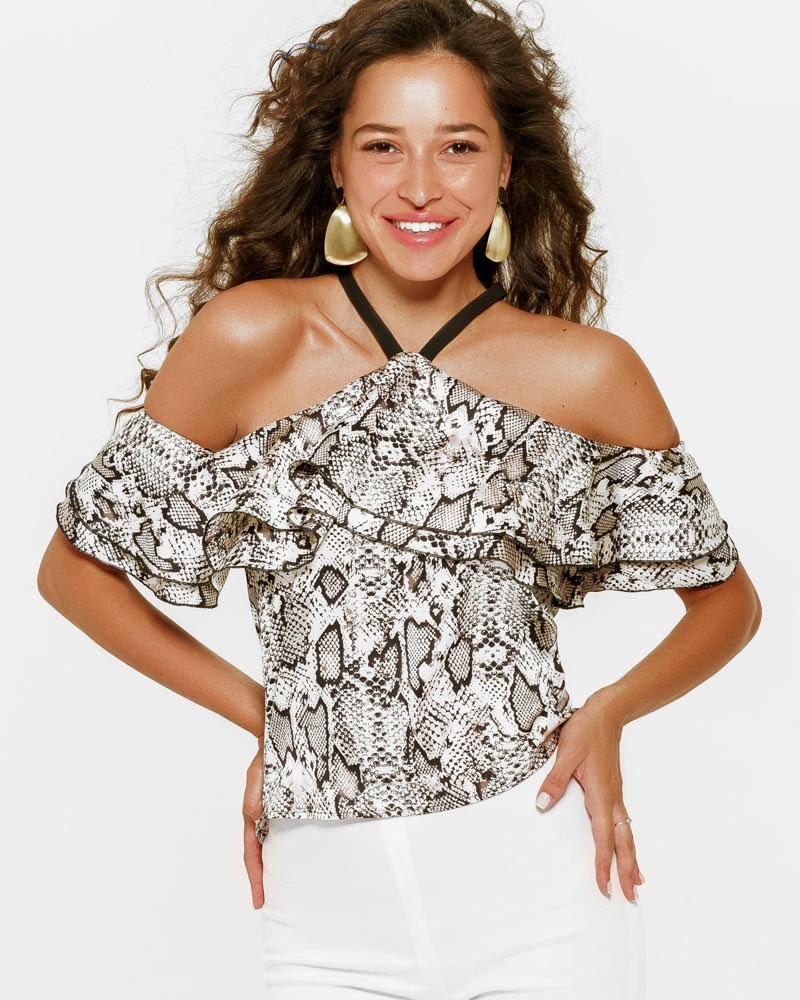 Блуза у хижий принт от Gepur