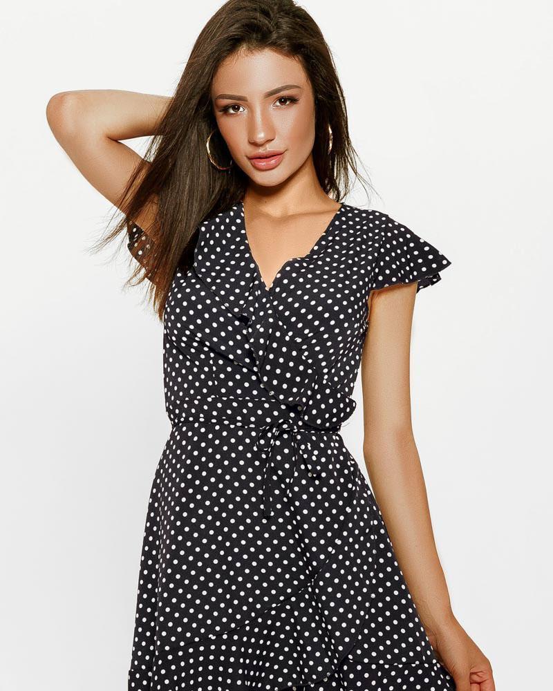 Платье в стильный горошек фото