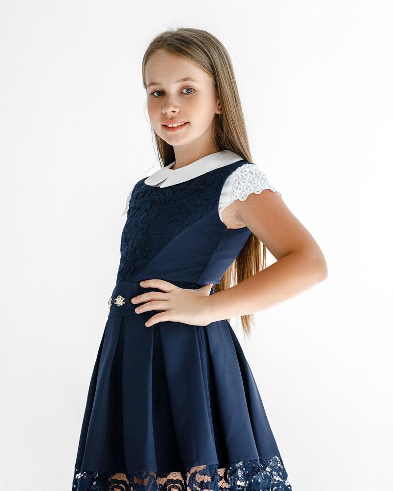 Сарафан синего цвета фото