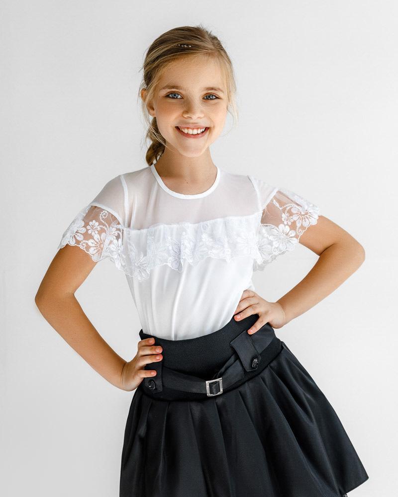 Объемная юбка с пряжкой фото