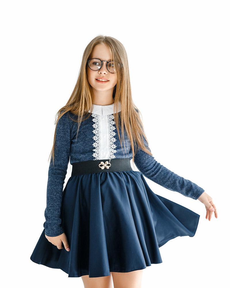Расклешенная юбка с декором фото