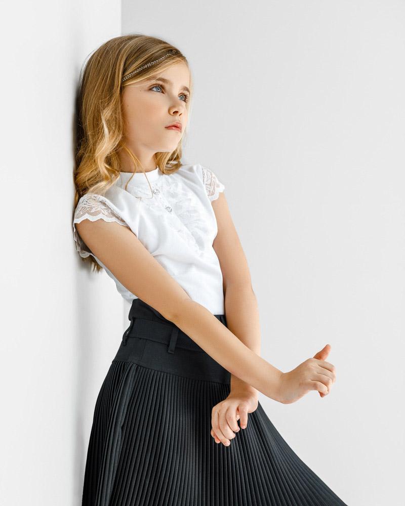 Плиссированная детская юбка фото