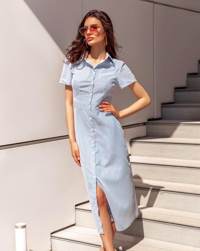 Удлиненное платье-рубашка фото