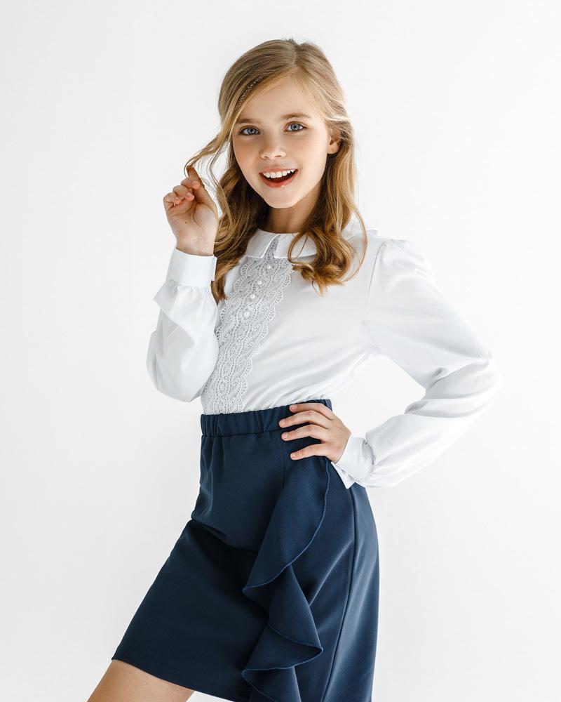 Детская юбка с воланом фото