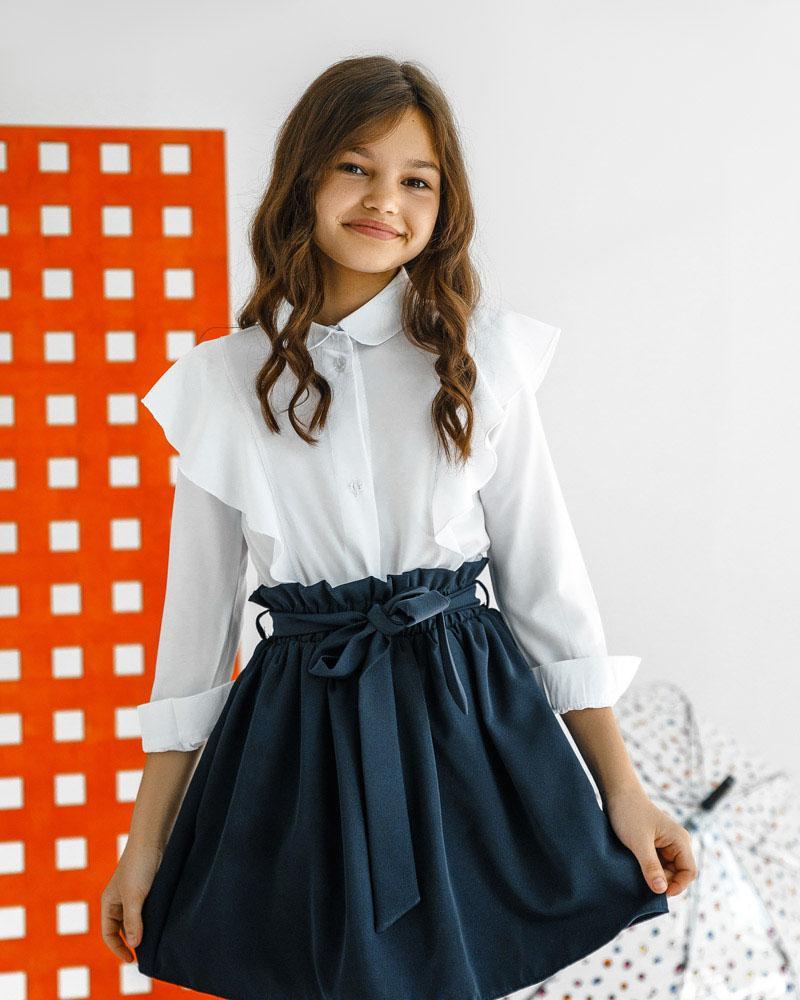 Детская блуза с оборками фото