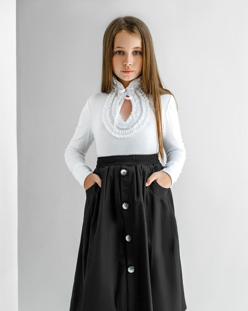 Детская юбка-полусолнце фото