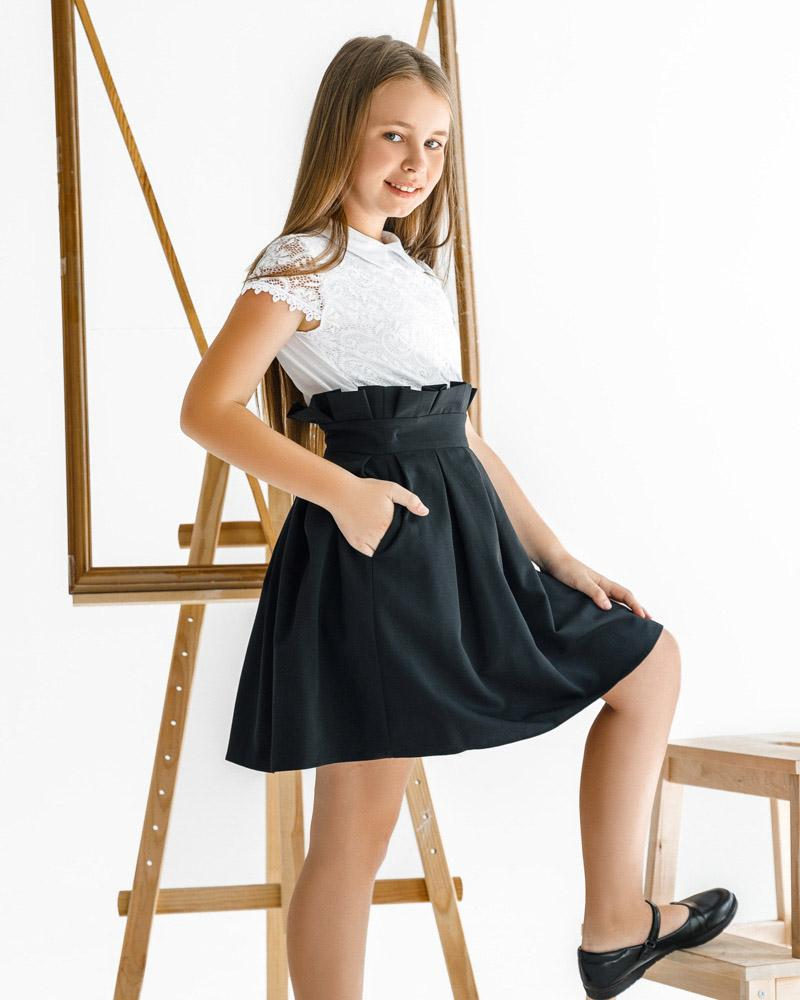 Школьная юбка в складку фото