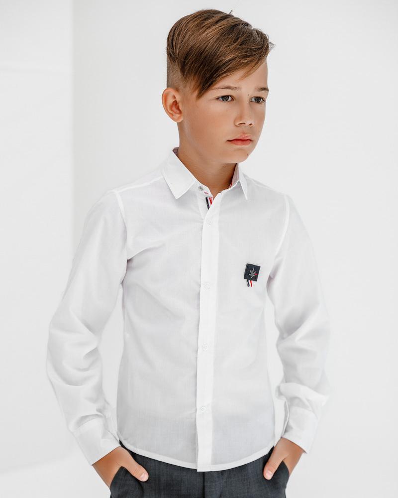 Однотонная детская рубашка фото