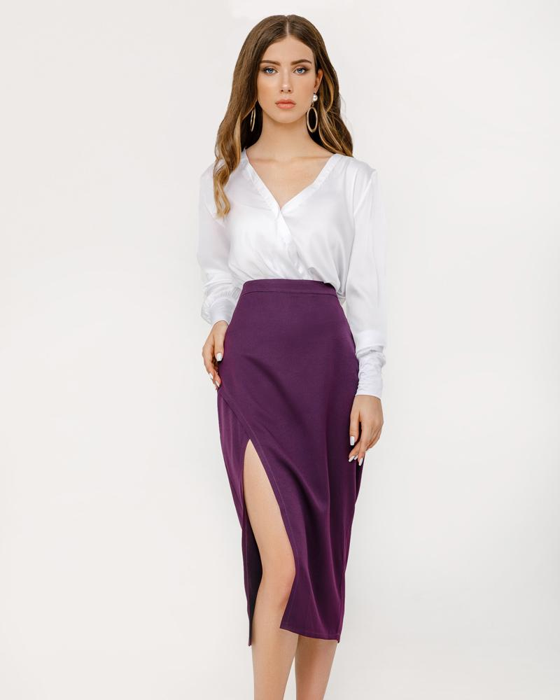 Приталенная юбка-миди фото