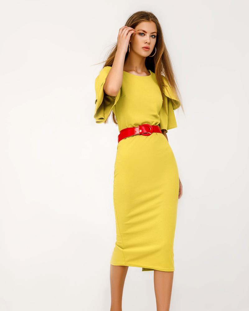 Купить Platya_teplye-platya, Приталенное платье-миди, Gepur