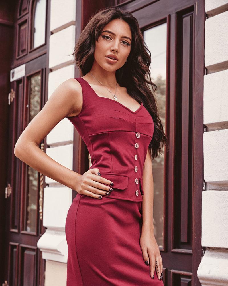 Platya_platya-bolshih-razmerov, Деловое облегающее платье, Gepur  - купить со скидкой