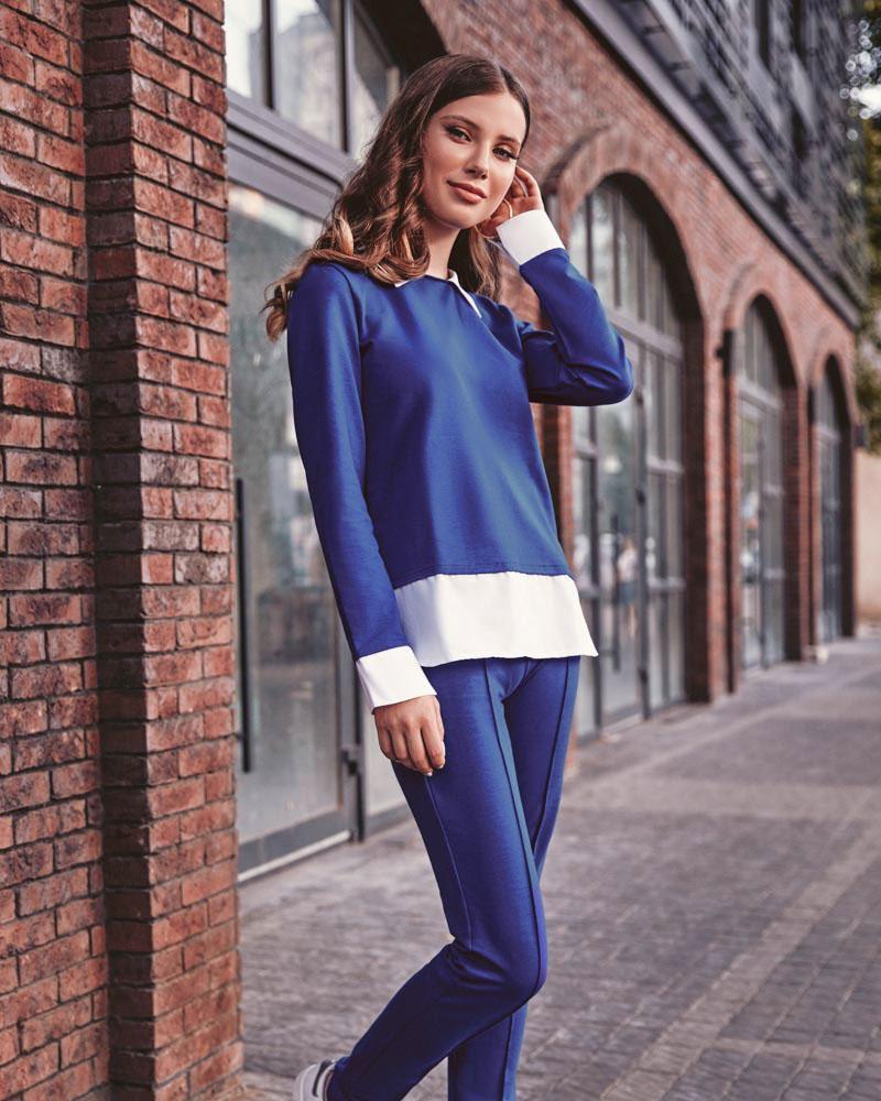 Оригінальний костюм синього кольору от Gepur