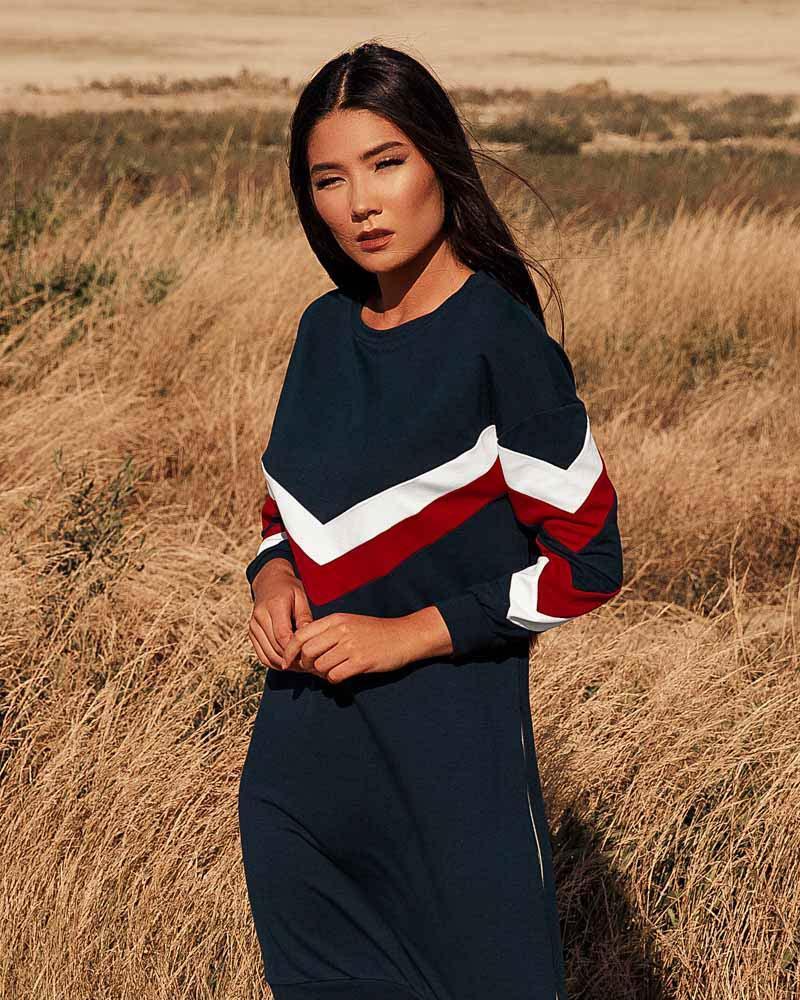 Купить Platya_platya-bolshih-razmerov, Платье-мини в спортивном стиле, Gepur