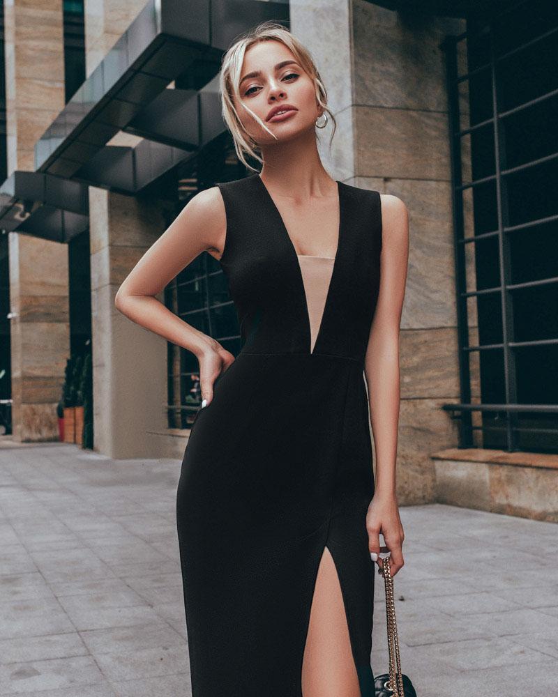 Платье с высоким разрезом фото