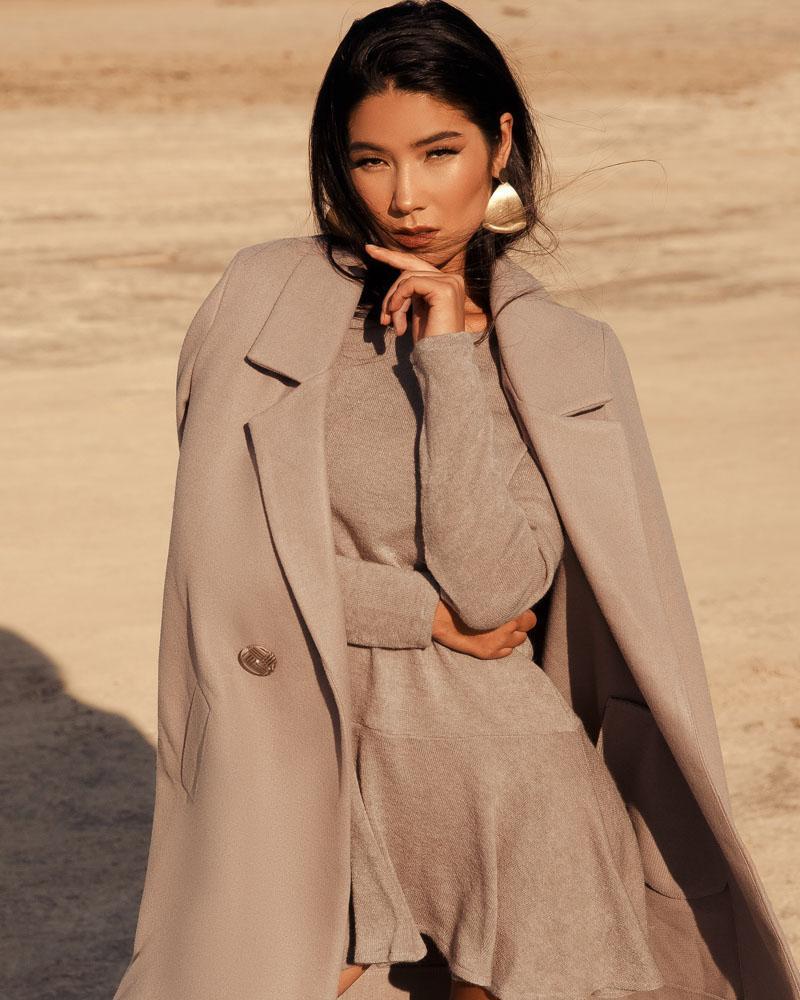 Пальто вільного крою от Gepur