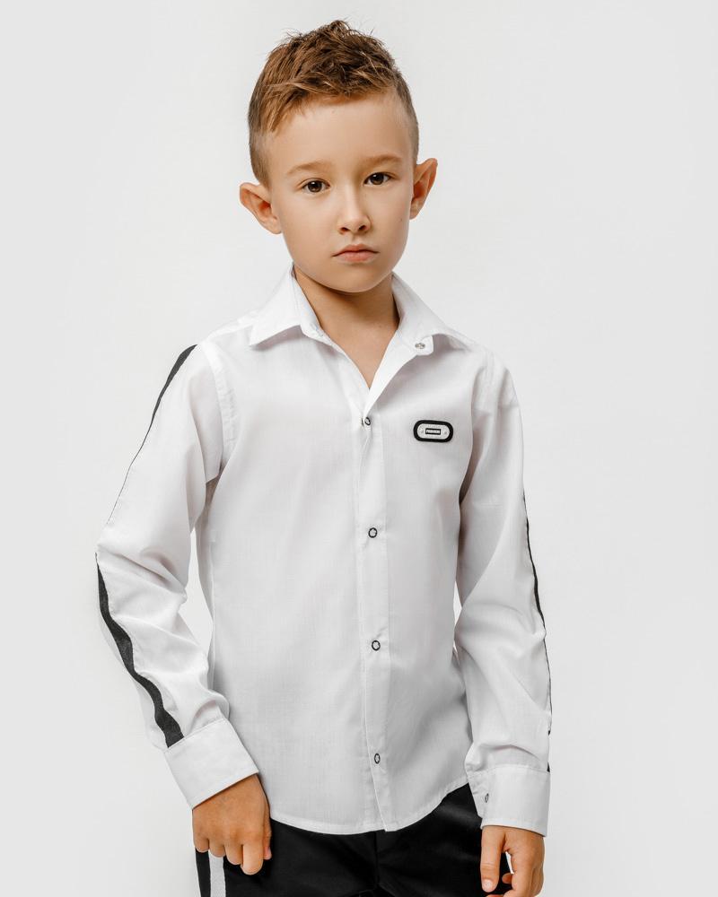Черно-белая детская рубашка фото