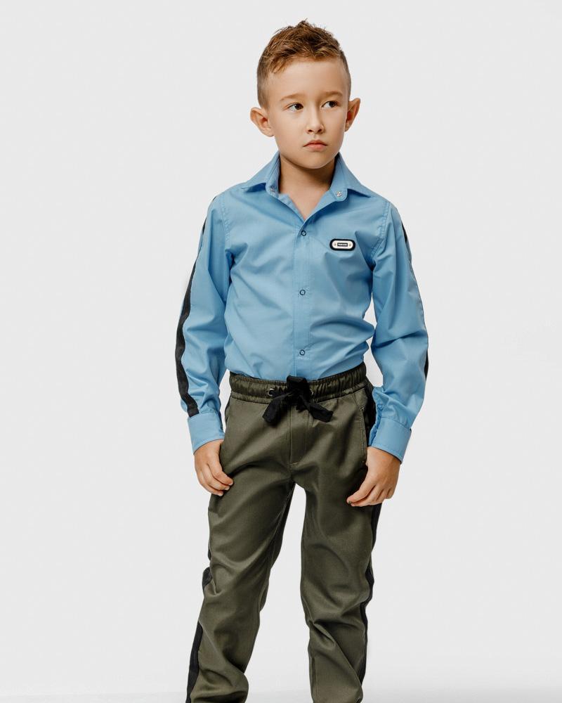 Хлопковые школьные брюки фото