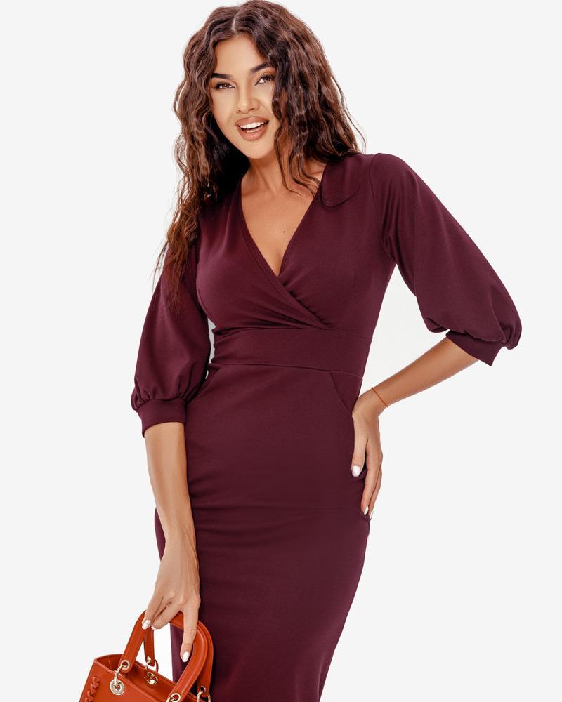 Приталенное деловое платье