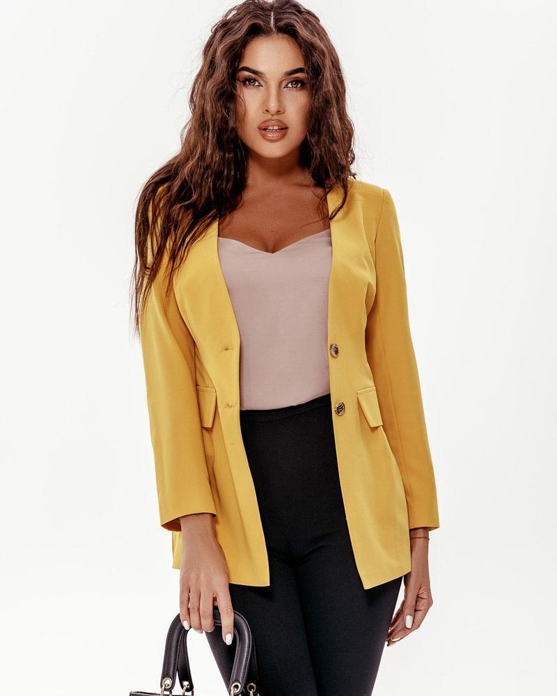 Приталенный удлиненный пиджак