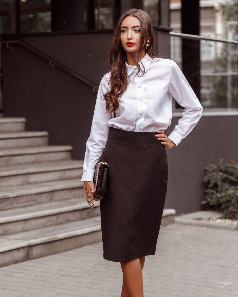 Классическая черная юбка фото