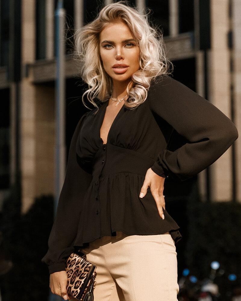 Класична чорна блуза от Gepur